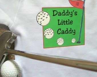 Daddy's Little Caddy Bodysuit/Daddy's Little Caddy Tee/Baby Bodysuit/Daddy's Little Caddy Baby Bodysuit/Baby Shower Gift/