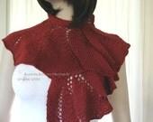 PDF, Semi Circular Scarf Pattern, Knitting Pattern, Scarf Pattern, Flair Scarf Pattern