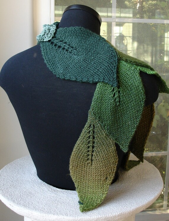 Pdf For Suzanne Sullivan Knit Leaf Scarf Pattern