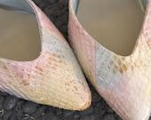 SALE vintage 80s High Heels - Snakeskin Shoes Sz 7.5