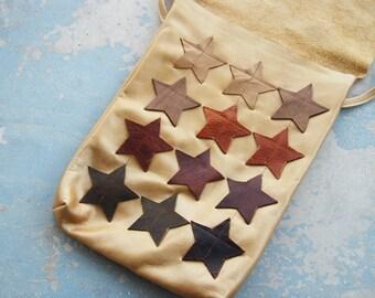 Gold Leather Purse - Shooting Stars Bag - Modern Pocahontas Collection