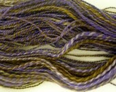 Purple woods superwash blue faced leicester wool hand spun sport weight yarn