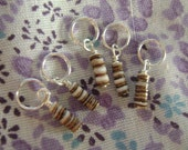 set of 5 snail shell stitch markers