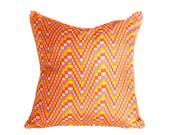 Orange Boho Pillows, Colorful Hippy Pillows, Orange Pink Pillows, Psychedelic  Pillows, Vintage Silk Pillows, Eclectic Pillows, 16x16, SALE