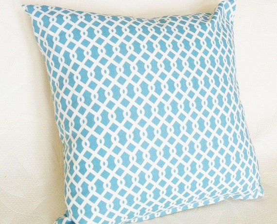 Turquoise Blue Decorative Throw Pillow by PillowThrowDecor on Etsy