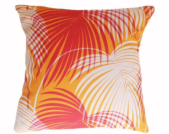 Patio Pillow Pink Orange Outdoor Cushion Covers Bright