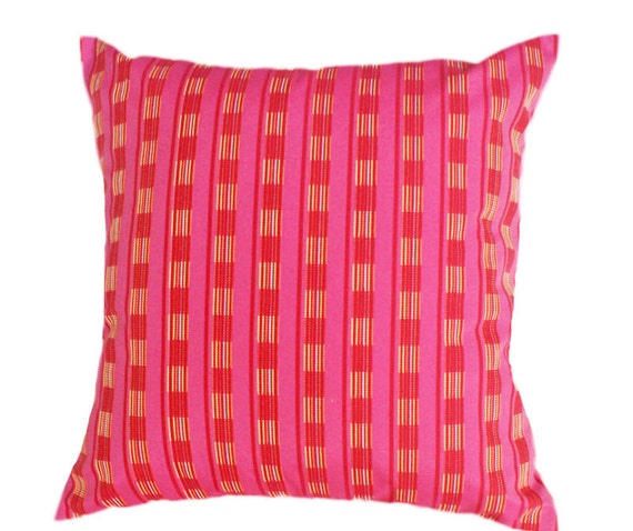 Pink Red Decorative Throw Pillows, Vibrant, Colorful, Girls Toss Cushion Cover, Bright, Bedroom Decor, Bed  or Couch Accent Pillow 18x18