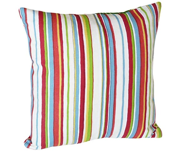 Decorative Pillows With Stripes : Colorful Throw Pillows Striped Decorative Throw Pillow