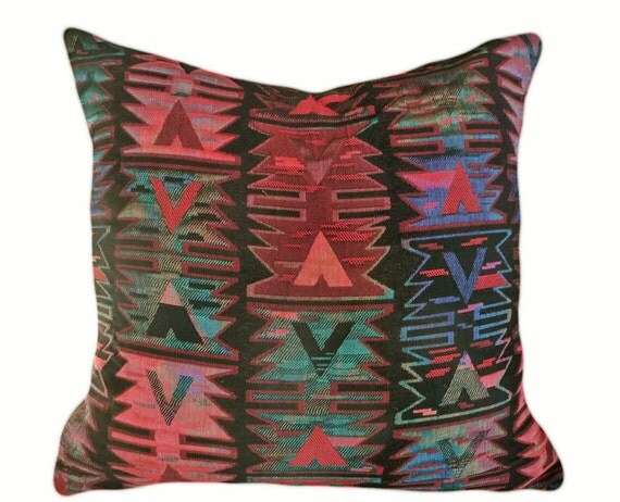 NEW YEARS SALE Southwestern Throw Pillows Red by PillowThrowDecor