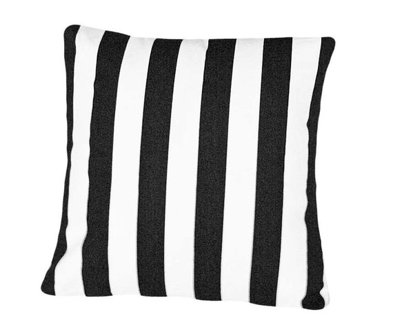 Black and White Striped Pillows, Decorative Throw Pillow, Stripes, Accent Pillow, Modern, Trendy, Designer Sofa Couch Cushion Cover, 18x18