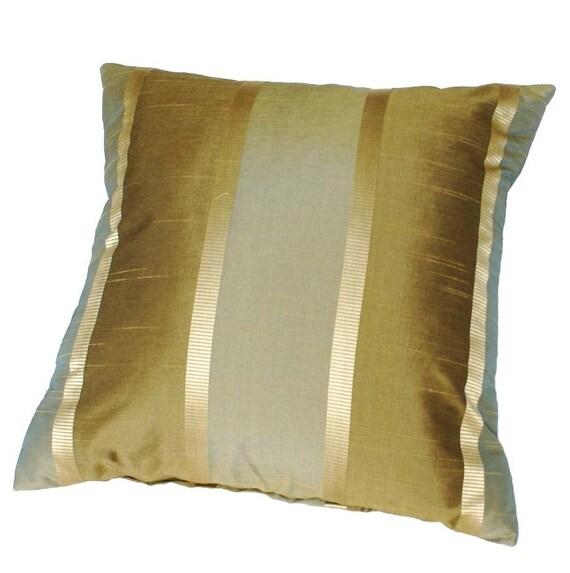 Green Throw Pillows Etsy : Green Gold Throw Pillow Contemporary by PillowThrowDecor on Etsy
