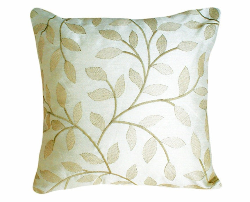 Embroidery Cream Decorative Pillows : Unavailable Listing on Etsy