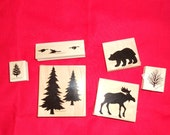 Stampin Up Set Pines, Moose, Bear