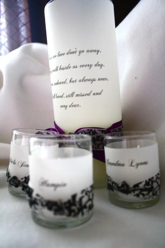 Custom Memorial Candle Set