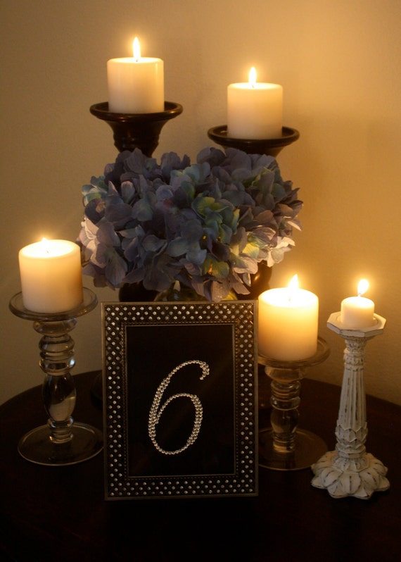 Sparkle, Bling, & Twinkle Table Numbers