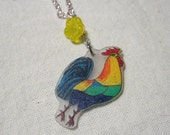 Rise and shine rooster necklace