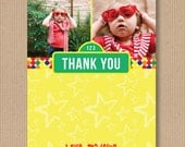 Sesame Street inspired Birthday Thank You Note - 5x7, Printable File