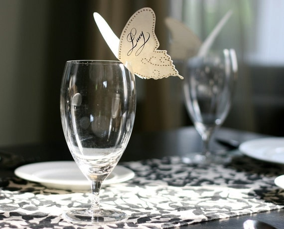 Butterfly Place Cards - Reserved for Maria