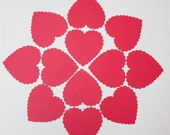 50 Scalloped Hearts