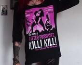 Faster Pussycat Kill Kill Girls Lace 3/4 Sleeve Shirt