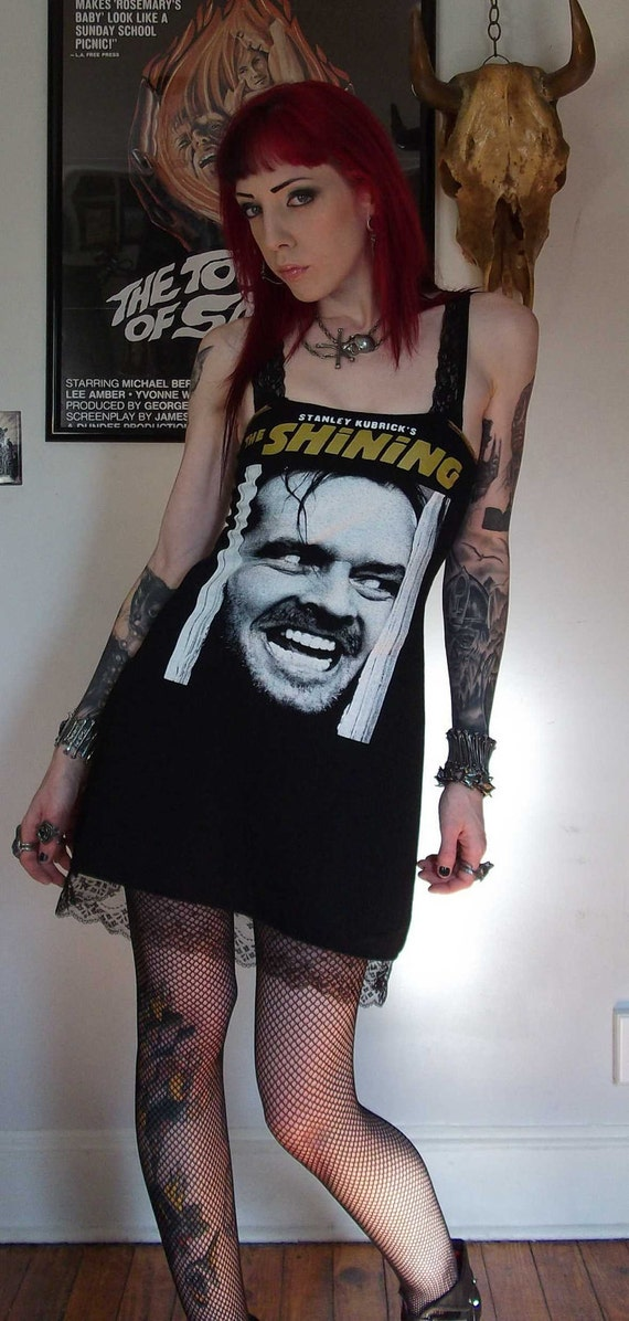 HERE'S JOHNNY Lace Slip Dress Horror The Shining Custom