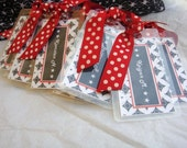 Personalized Customized CHEER School Spirit Luggage Bag Tag by Chocolatetulipdesign
