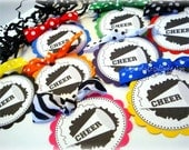Personalized Custom CHEER School Spirit gift party favor tags by Chocolatetulipdesign