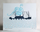 Starboard, limited edition, signed letterpress print