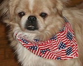 Patriotic flag Dog Bandana for the 4th of July