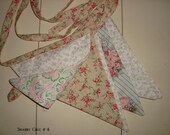 Shabby Chic no. 4..... Pennant Bunting Banner...