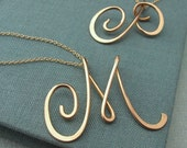 14k gold filled Calligraphy Necklace