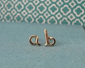 Custom Initial posts in 14k Gold Filled-any initial available