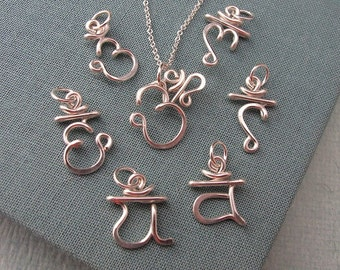 Set of 7 Chakra Pendants
