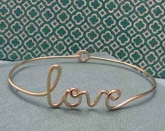 14k Gold Filled love Bracelet