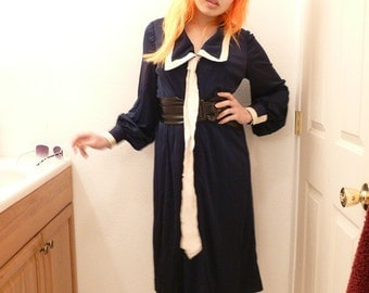 Eva Gabor - Navy Sailor Secretary Dress