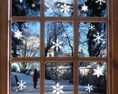 Christmas Snowflakes Window Stickers, Festive Snowflake Wall Decals
