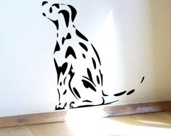 Spotty Dog Dalmatian Puppy Dog Wall Sticker or Window Decal