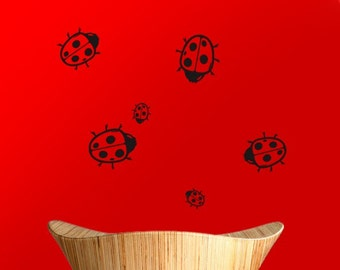 Ladybug Stickers, Ladybird Wall or Window Decals