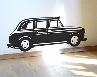 Black London Taxi Cab wall sticker decal