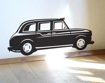 Black London Taxi Cab wall sticker decal