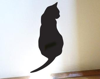 Black Cat Wall Sticker - Thinking Cat