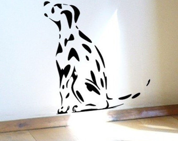 Spotty Dog Dalmatian Puppy Dog Wall Sticker or Window Decal