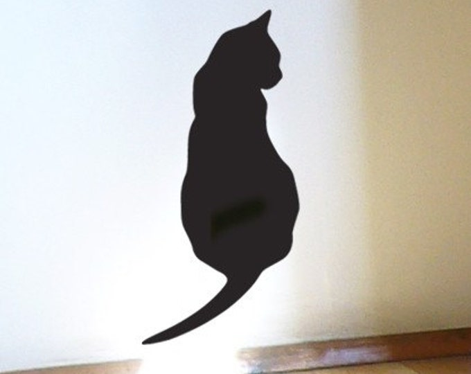 Black Cat Wall Sticker - Thinking Cat