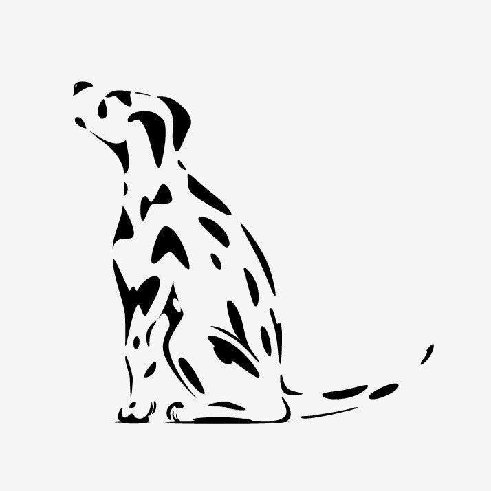 Spotty Dog Dalmation Puppy Dog Wall Sticker or Window Decal