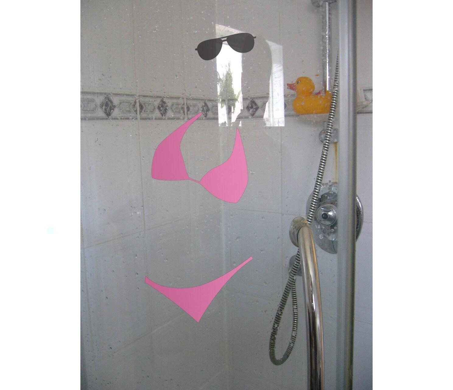 Bikini Wall Sticker - Fun Bathroom Shower Decals