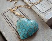 Nature's Heart - Long Locket Pendant Necklace