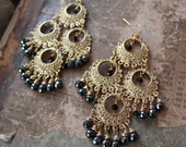The Piece de Resistance 14K Gold-Plated Earrings with Onyx Black Briolettes