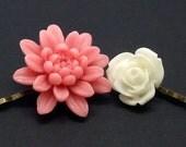 Lovely flower bobby pin set of 2 (S2-018)