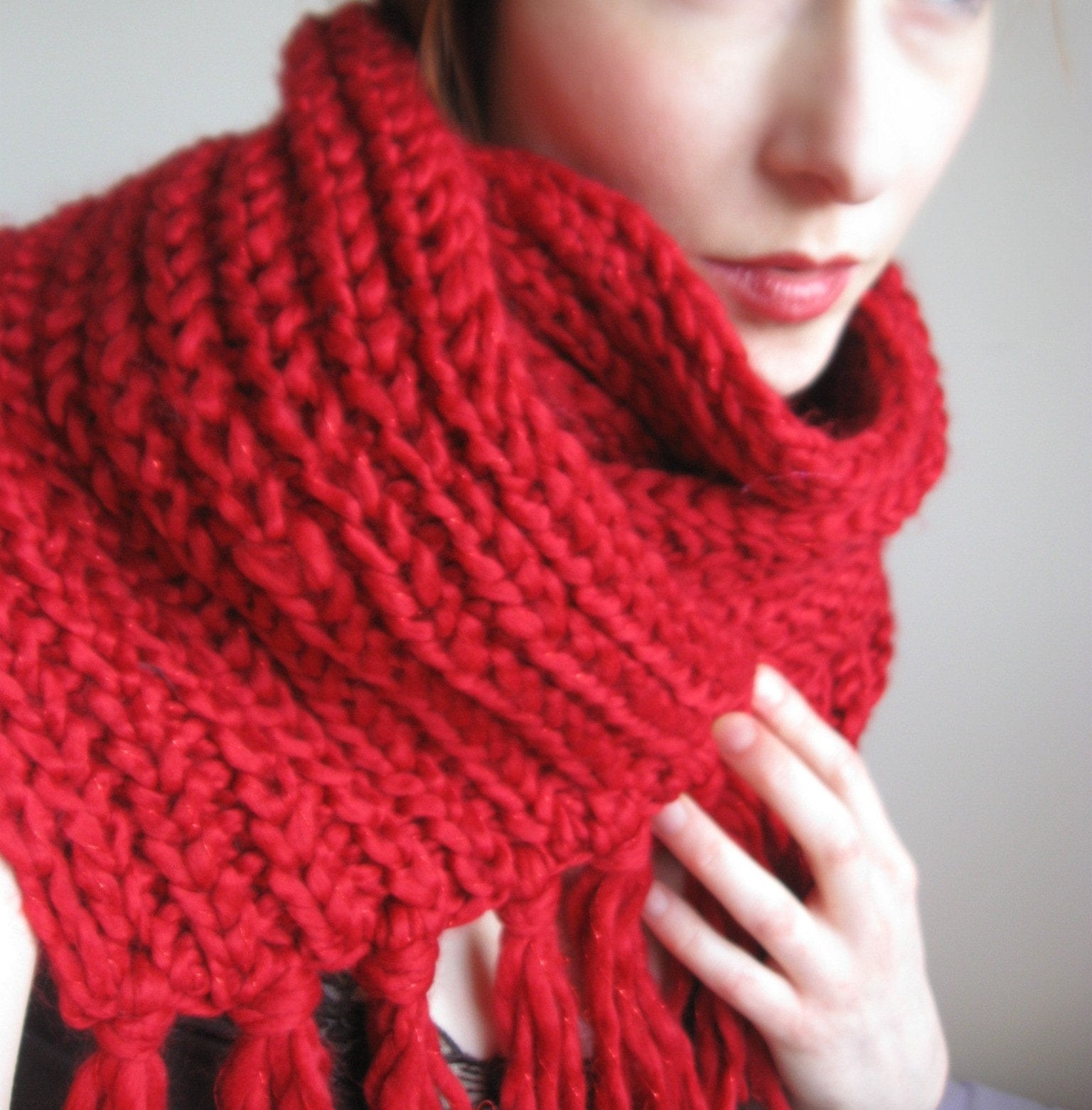 sale knitted scarf