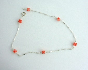Glass Bead Anklet. Listing  46105805